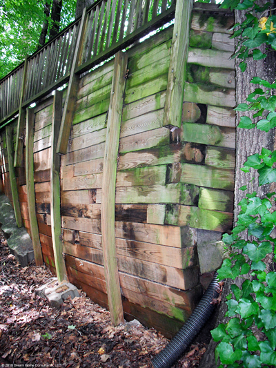 Wood Retaining Wall Failing