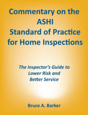 ASHI Standard of Practice Commentary Front Cover